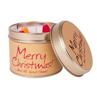 Merry Christmas Vanilla and Cranberry Tin Candles 200x200 - Tin Candles