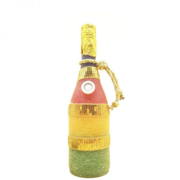 1 2 600x600 - Wine-bottle Shape Crafted Candles