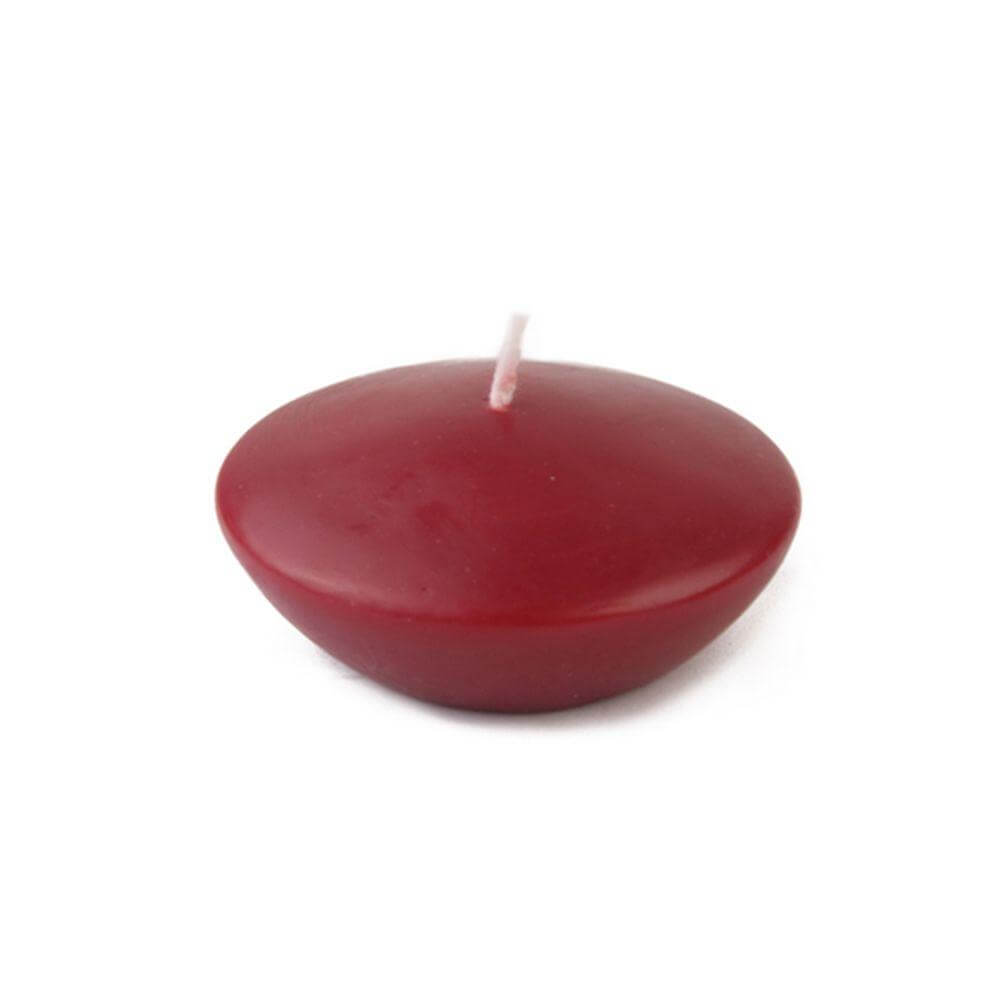 3 in. Burgundy Floating Candles - 3 in. Burgundy Floating Candles