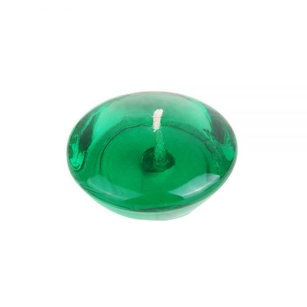 3 in. Clear Green Jelly Wax Floating Candles 600x600 - Clear  Green Gel Floating Candles