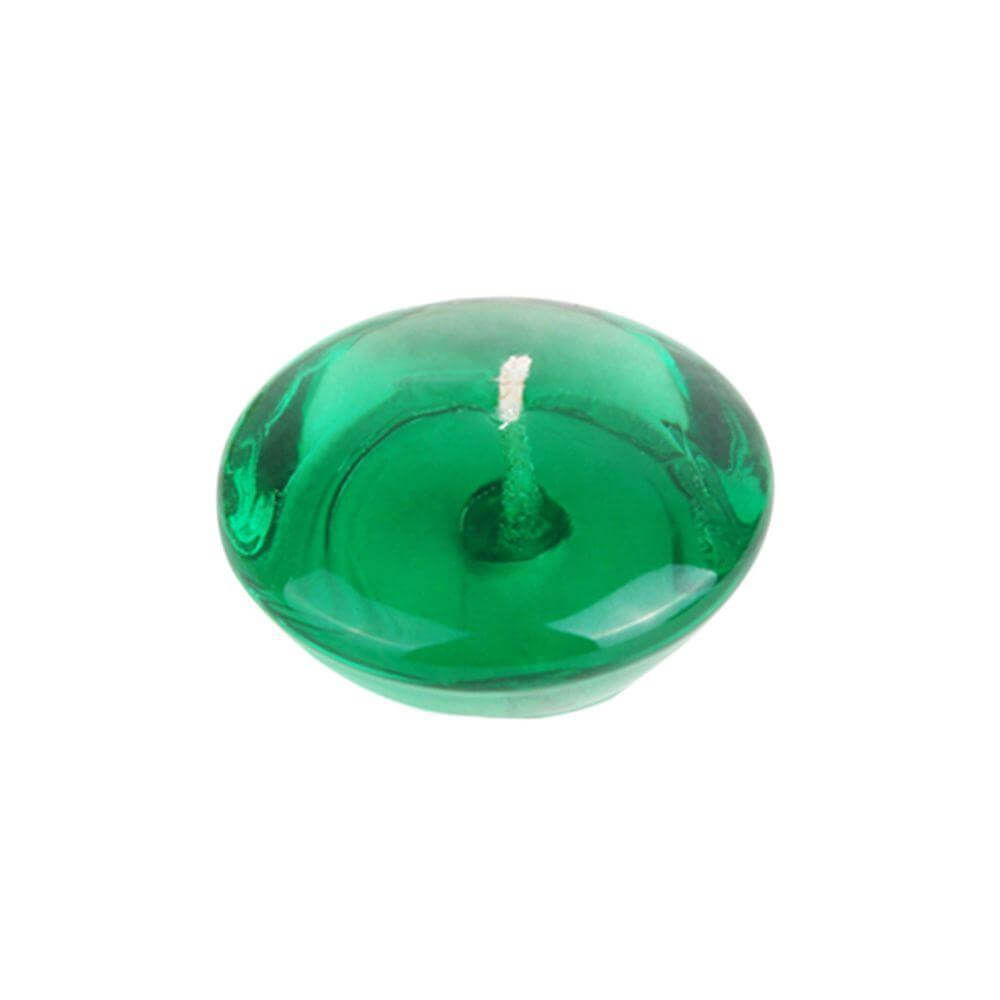 3 in. Clear Green Jelly Wax Floating Candles - Clear  Green Gel Floating Candles