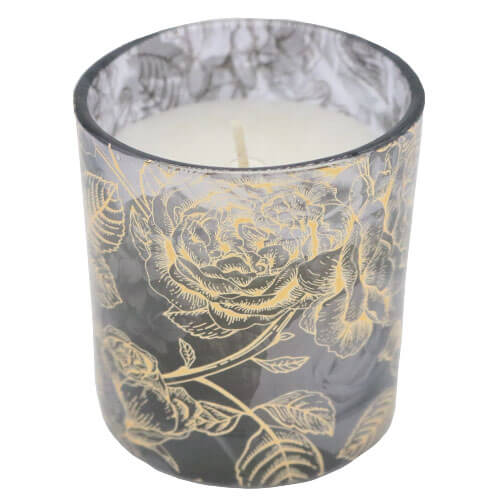 7oz Firework Piped Jar Candles - 7oz Lilac Blossom Jar Candles