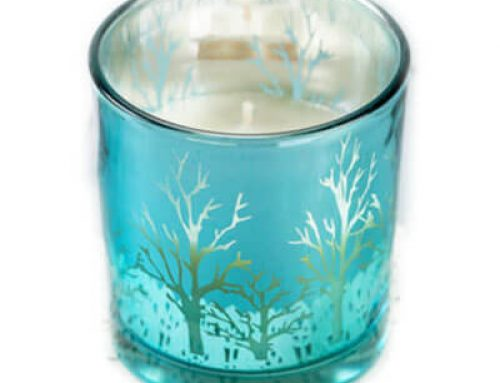 8oz Winter Snow Jar Candles